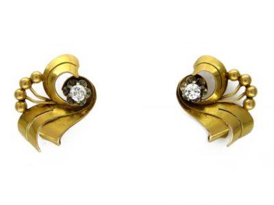 18ct Gold & Diamond Spray Earrings