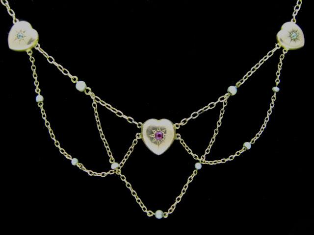 Edwardian Heart Festoon Necklace