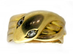 18ct Gold Victorian Snake Ring