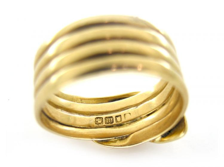 18ct Gold Victorian Snake Ring The Antique Jewellery Company