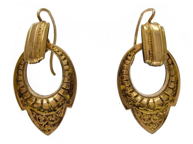 15ct Victorian Hoop Earrings