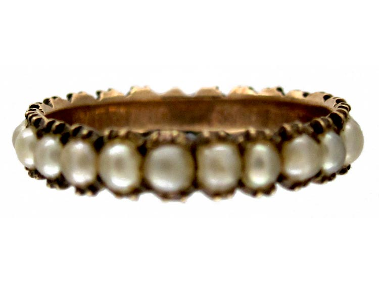 Georgian Split Pearl Eternity Ring The Antique Jewellery