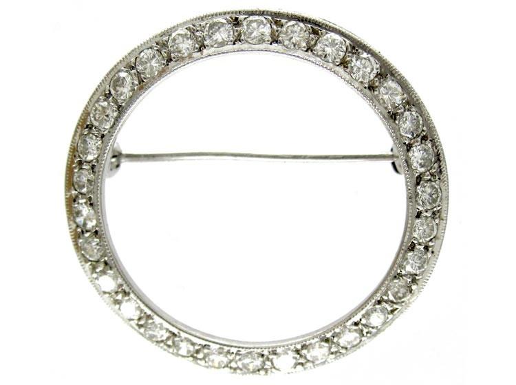 Diamond Circle Brooch