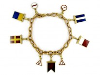 Gold Yachting Charm Bracelet