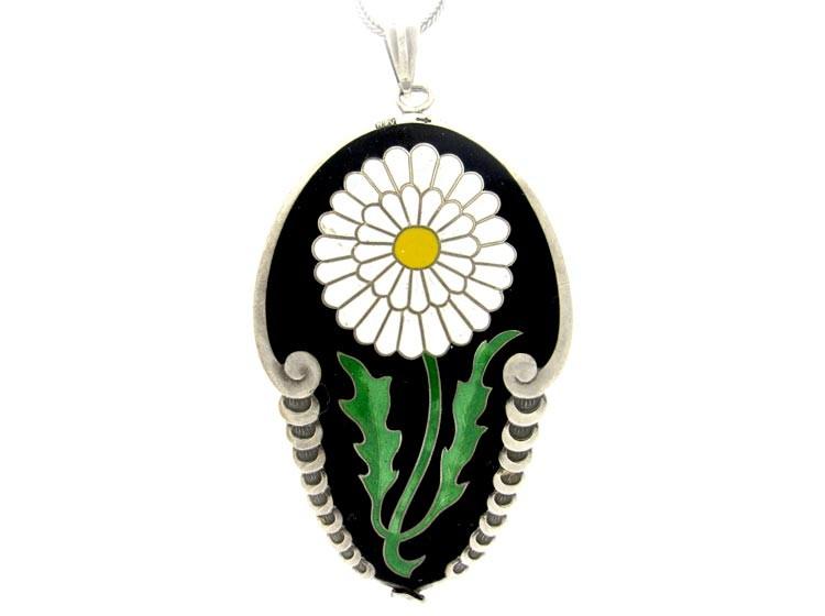 Art Deco Flower Pendant