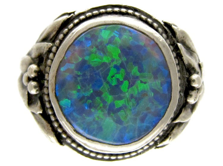 Bernard instone silver arts crafts ring the antique for Art craft engagement rings
