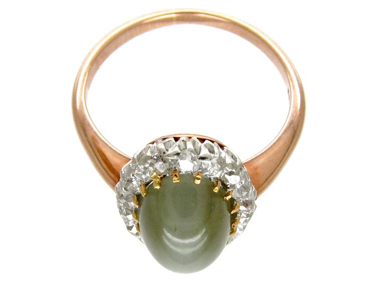 Cat S Eye Amp Diamond Ring The Antique Jewellery Company