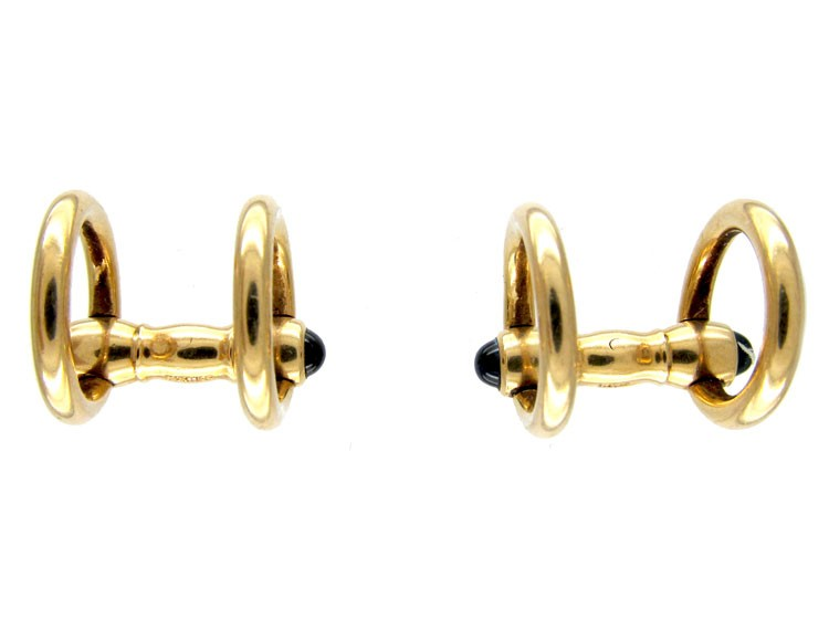 Cartier Stirrup 18ct Gold Cufflinks The Antique