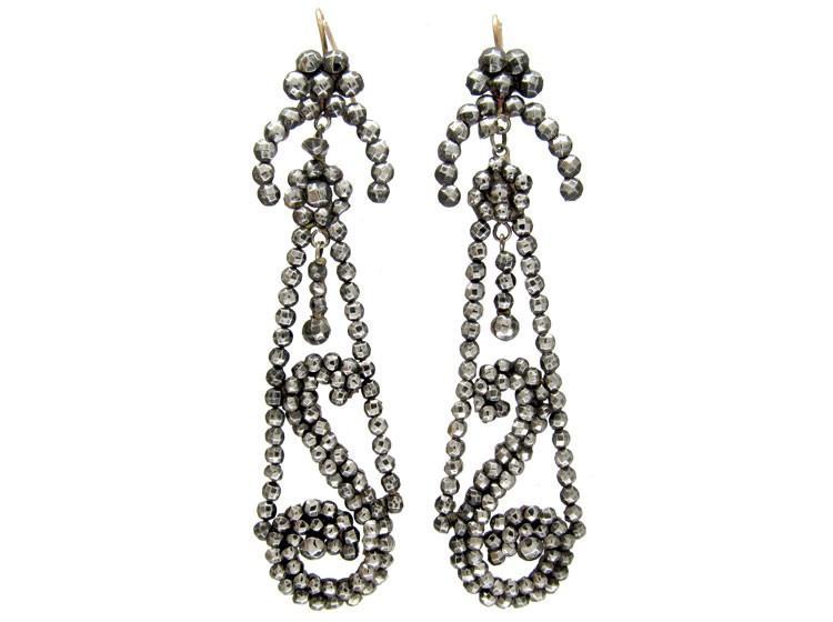 Cut Steel Drop Earrings