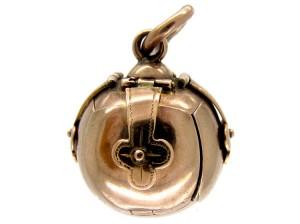 9ct Gold Masonic Ball Locket