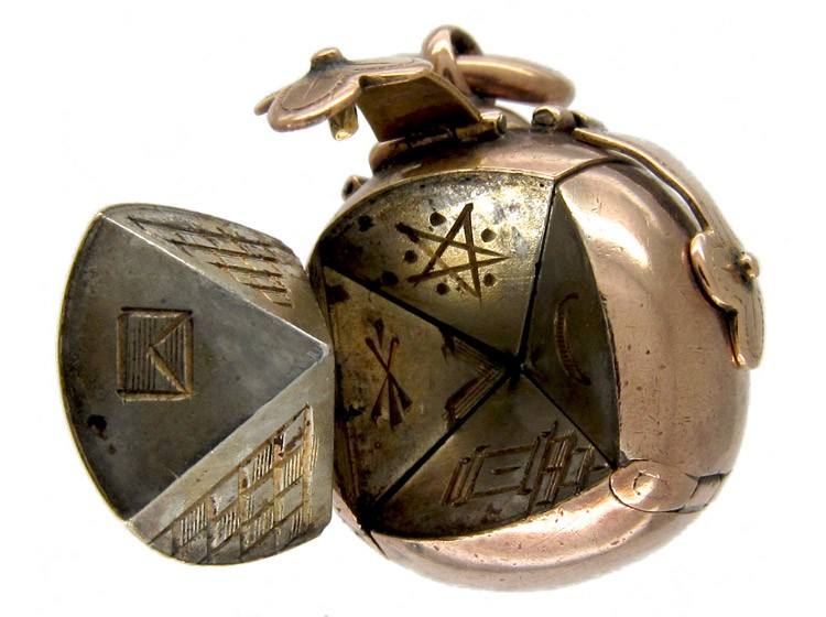 9ct gold masonic ball locket the antique jewellery company