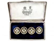 Maltese Cross Enamel Cufflinks