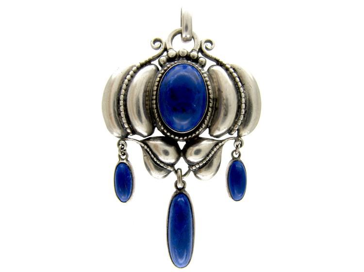 Theadore Fahrner Lapis Lazuli Brooch