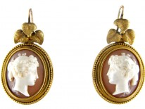 Victorian Fine Quality Cameo Earrings