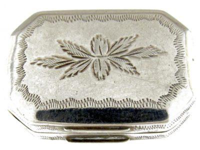 Georgian Silver Bright Cut Engraved Vinaigrette