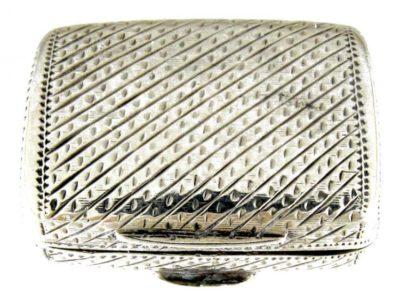Georgian Silver Engraved Vinaigrette