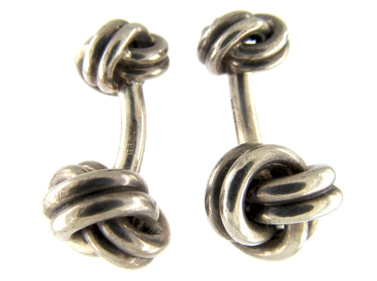 Tiffany Amp Co Silver Knot Cufflinks The Antique
