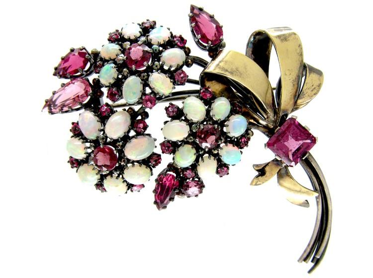 Dorrie Nossiter Mixed Gemstone Brooch