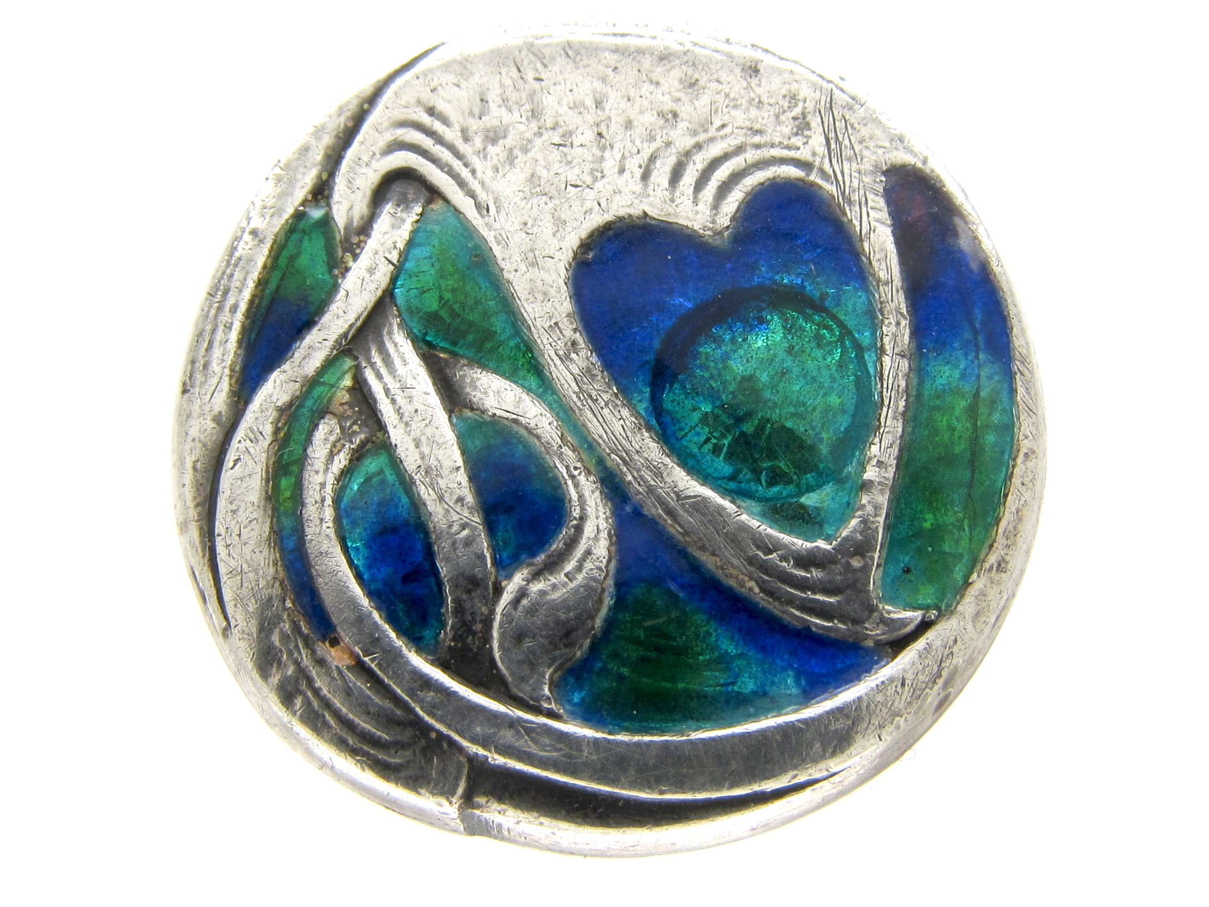 jewellery jewellers enamel enamelled blue antique sons davison sil g silver brooch