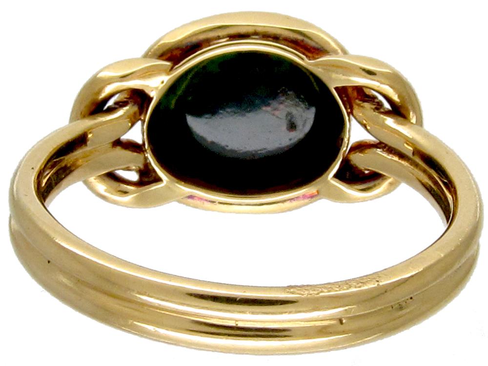 victorian gold  u0026 bloodstone signet ring
