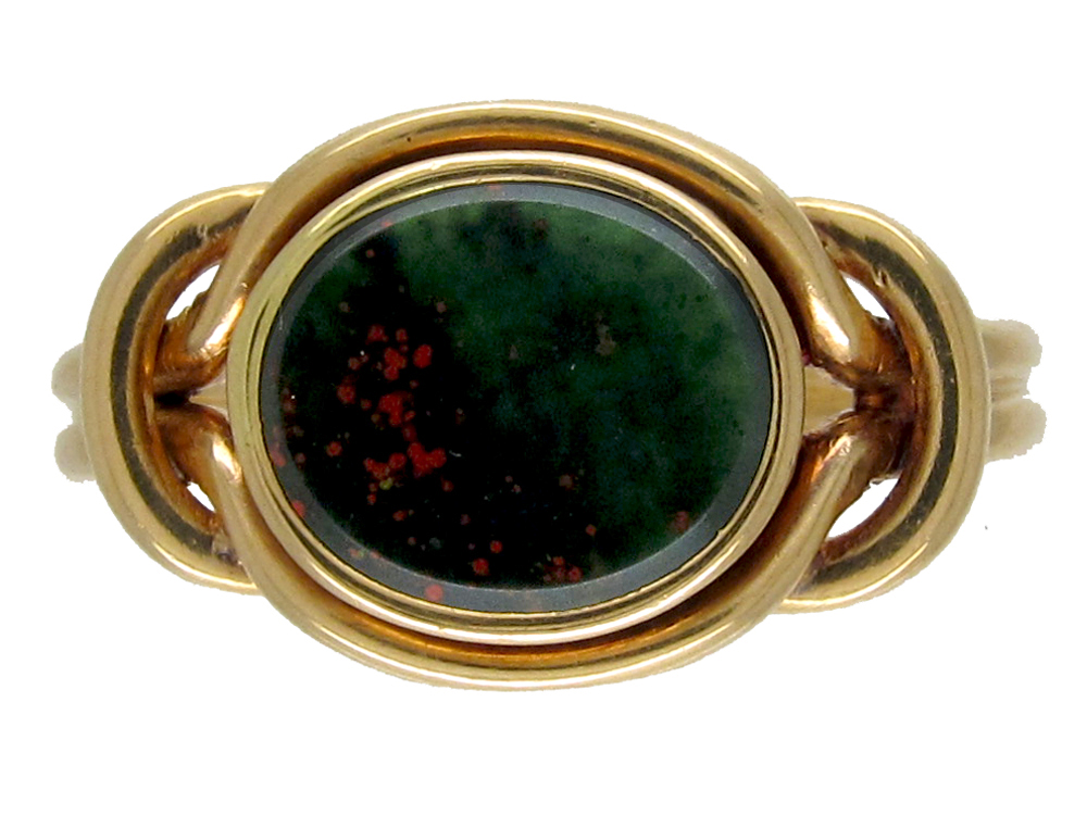 Victorian Gold Amp Bloodstone Signet Ring The Antique