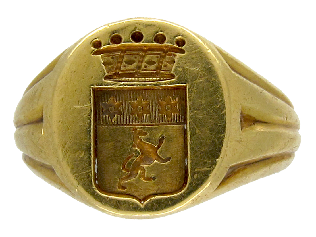 18ct Gold Victorian Signet Ring The Antique Jewellery