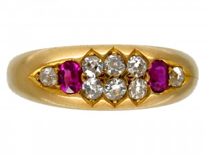 Ruby & Diamond Victorian Gypsy Ring