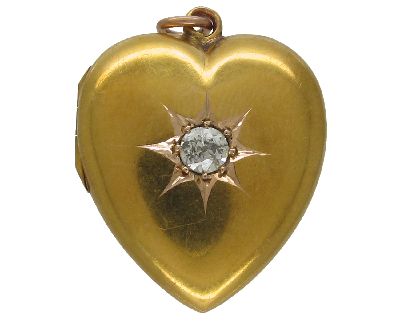 Victorian Diamond Set 15ct Gold Heart Locket The Antique