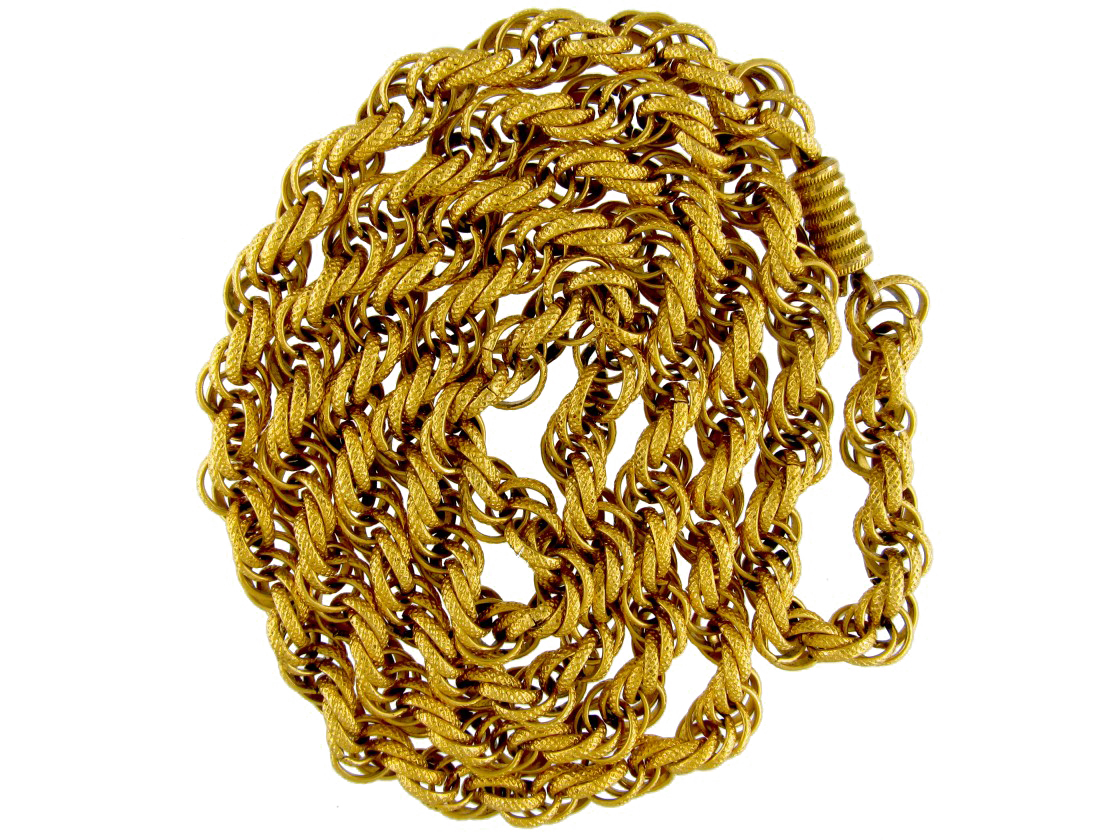 Georgian Pinchbeck Chain The Antique Jewellery Company