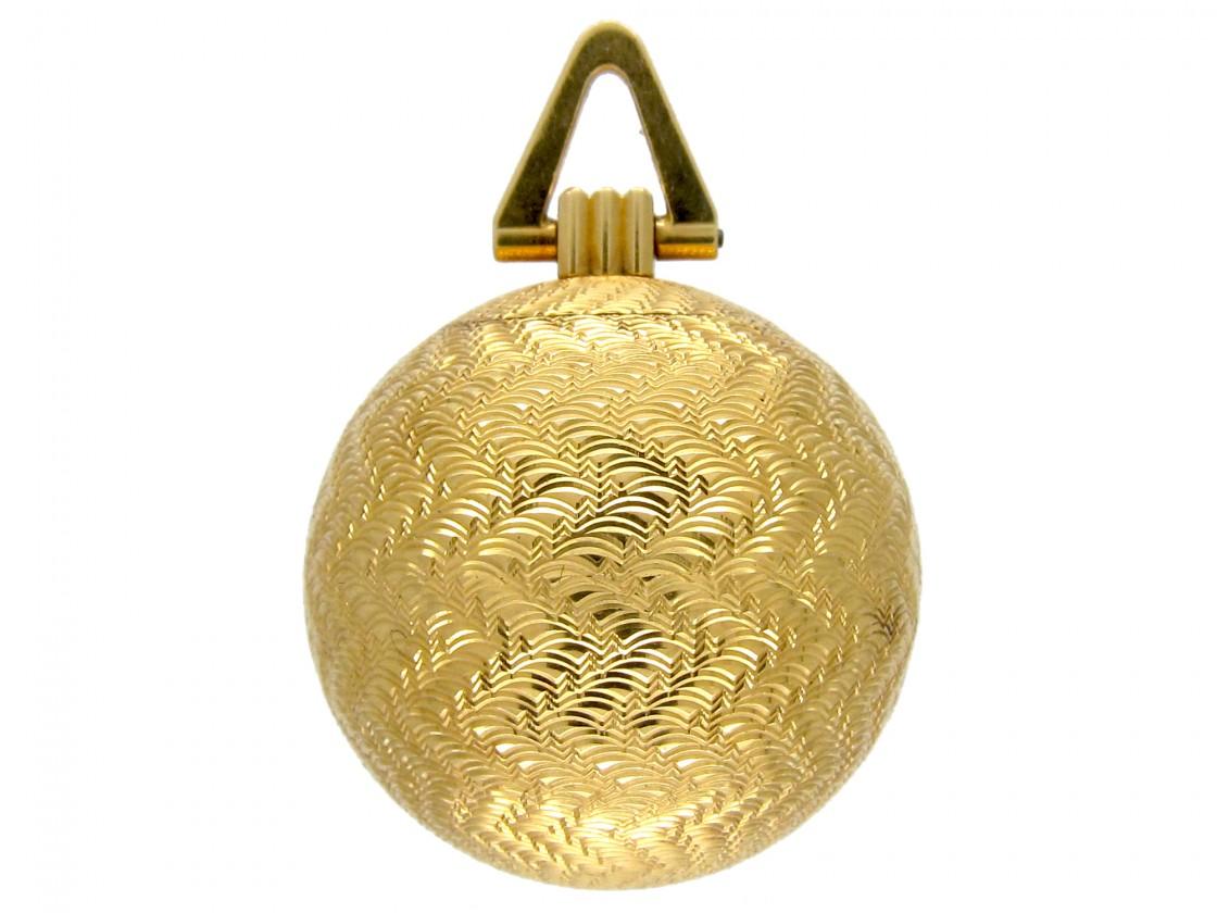 Cartier 18ct Gold Pomander Pendant The Antique Jewellery
