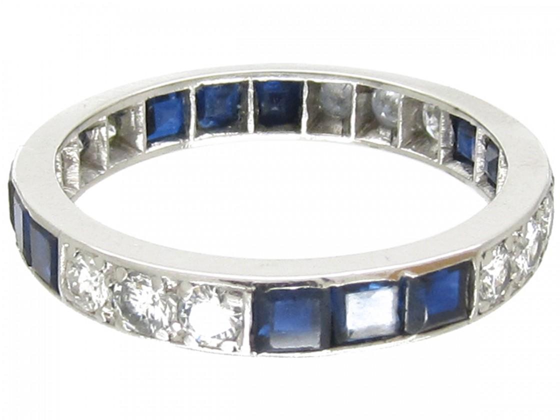 Antique Jewellery Shop Uk Sapphire Diamonds Eternity Ring