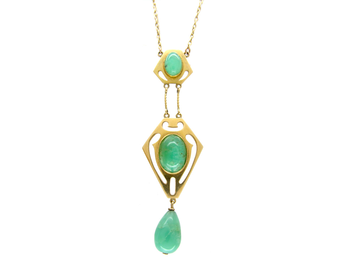 Murrle bennett 15ct gold jade necklace the antique jewellery thumbnail thumbnail thumbnail thumbnail thumbnail thumbnail mozeypictures Choice Image