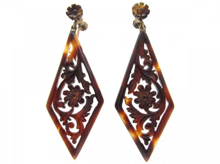 Victorian Tortoiseshell Earrings