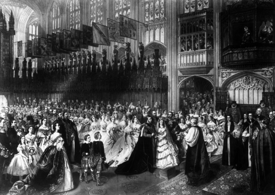 Edward and Alexandra's Wedding at St George's Chapel, Windsor Castle, 25 January 1842.