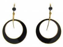 15ct-gold-and-enamel-hoop-earrings-(2)