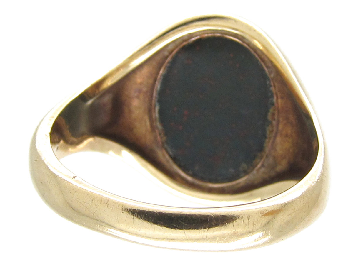 9ct  u0026 bloodstone signet ring