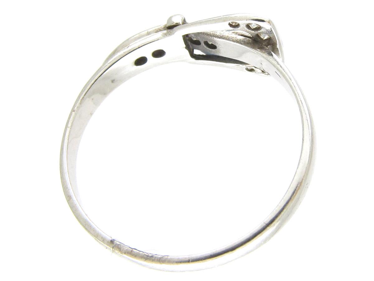 Diamond Amp Platinum Edwardian Buckle Ring The Antique Jewellery Company