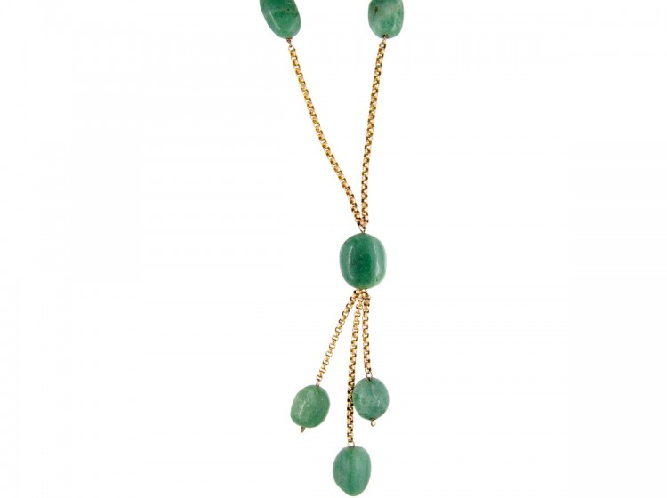 Gold-and-jade-long-Drop-Cluster-Necklace-(1)