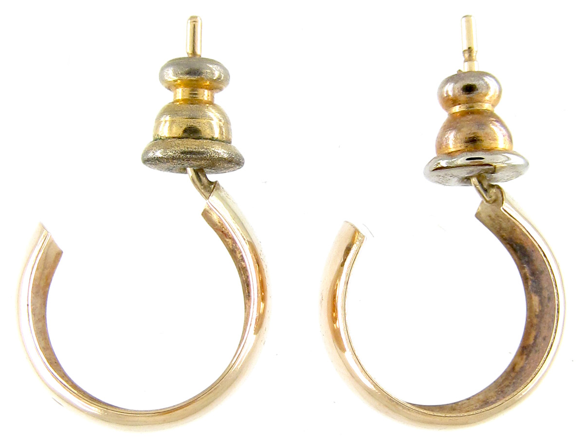 half hoops earrings 9ct gold half hoop earrings the antique jewellery company 2302