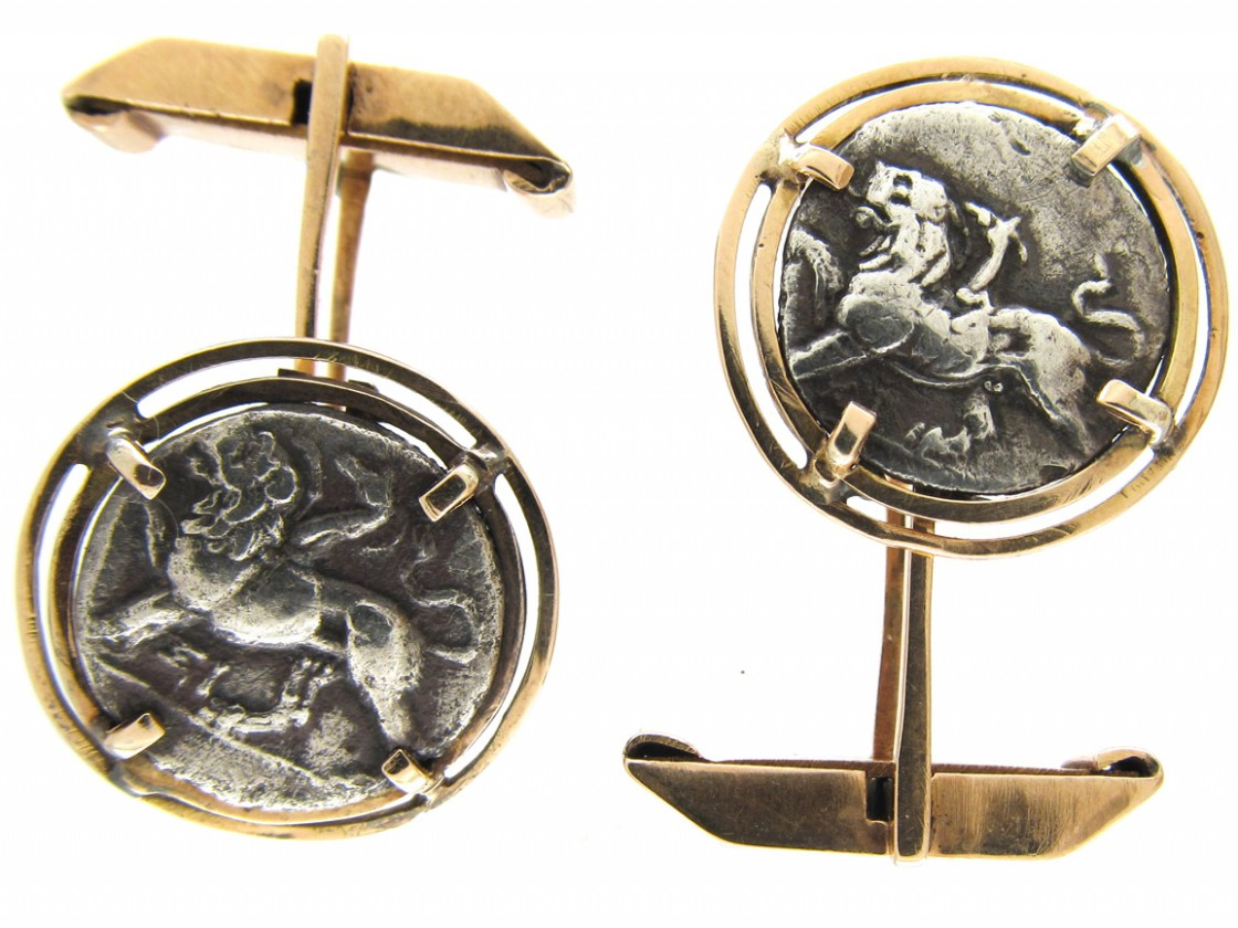 Gold Amp Ancient Coin Cufflinks The Antique Jewellery Company
