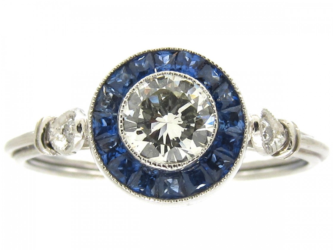 Sapphire And Diamond Dress Ring