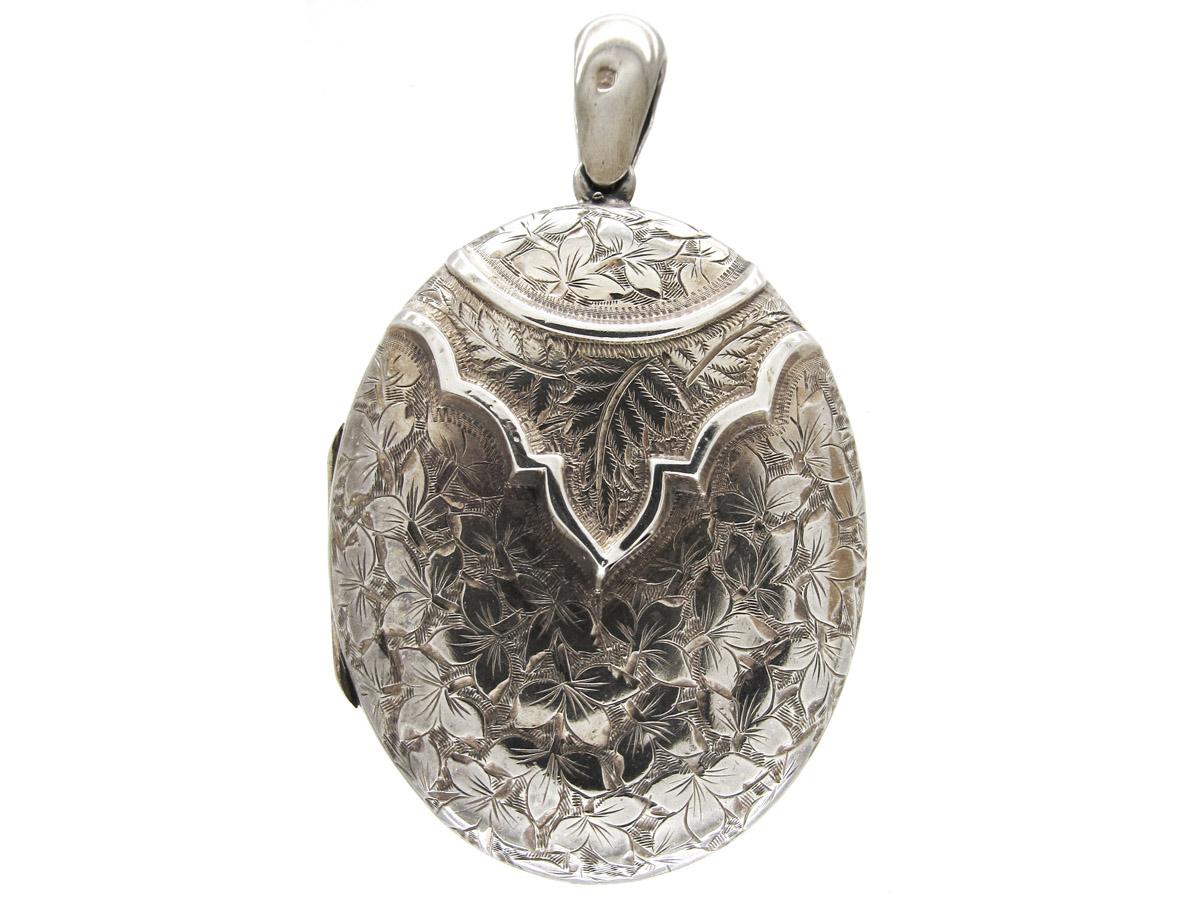 Victorian Silver Locket The Antique Jewellery Company