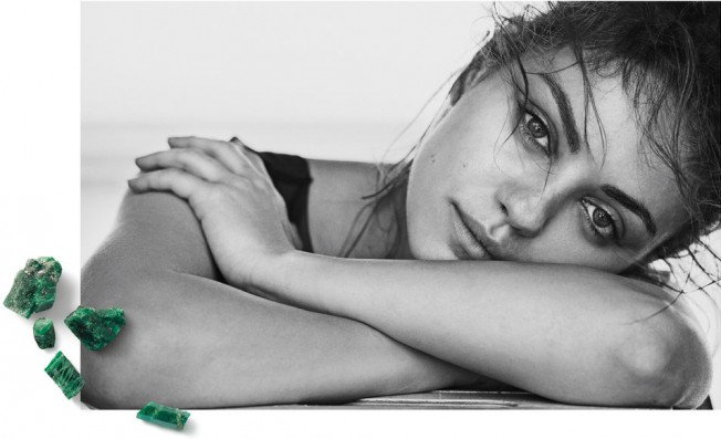 Gemfields' recent ethical campaign featuring Myla Kunis © Gemfields PLC
