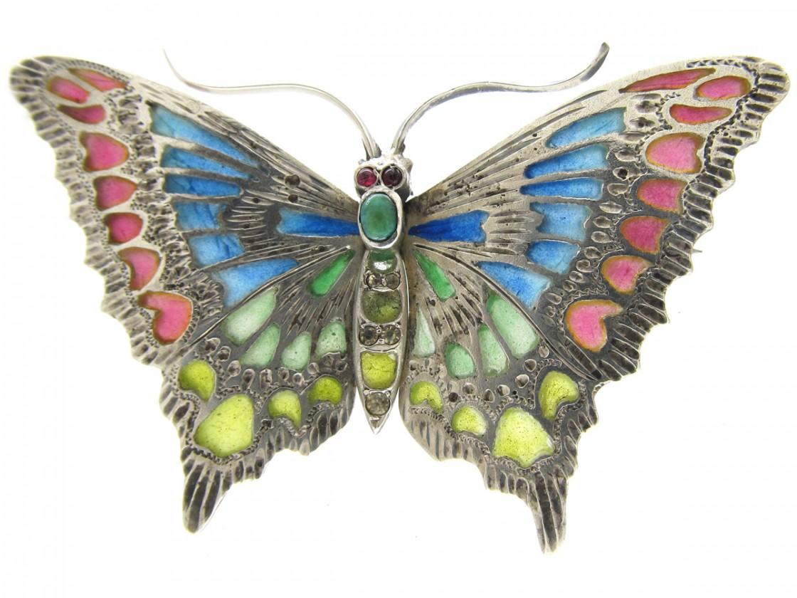 Emerald Rings For Men Art Nouveau Plique-...