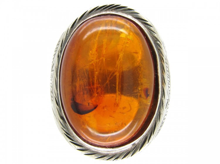 Russian Amber Ring The Antique Jewellery Company