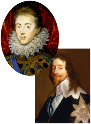 Charles I wearing his statement piece pearl