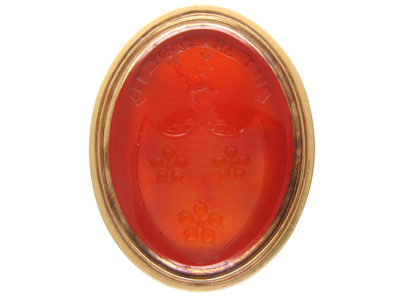 Georgian Gold Cased & Carnelian Intaglio Seal