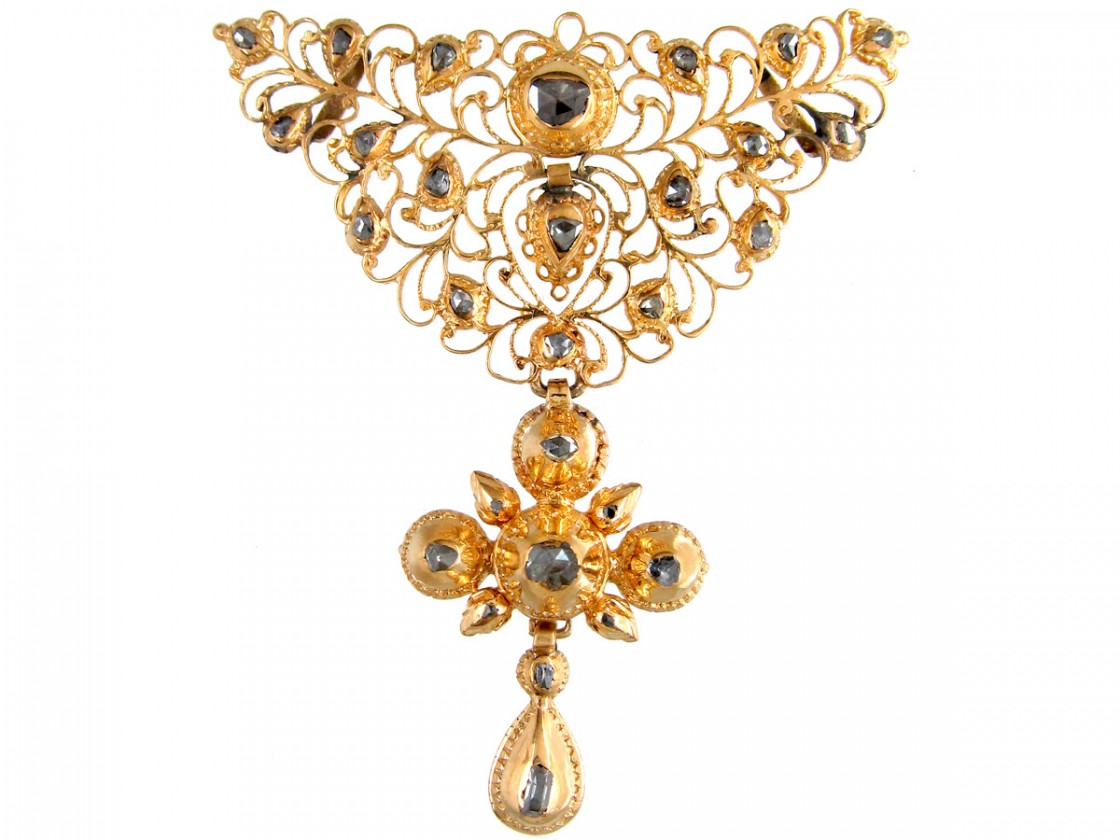 Early 18th Century Spanish Diamond Amp Gold Pendant The