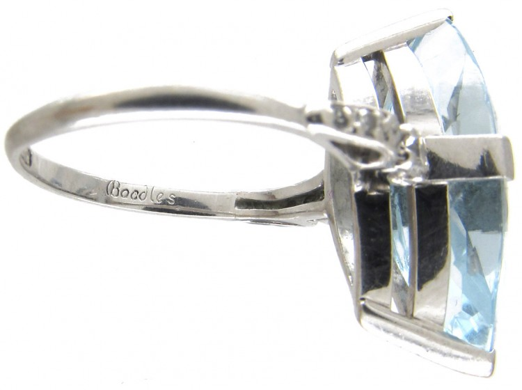 Marquise Aquamarine Amp Diamond Ring By Boodles The