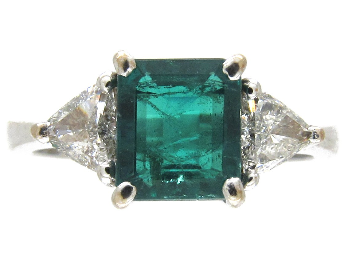 square cut emerald ring the antique jewellery